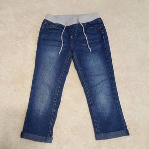 Justice crop pull up jeans